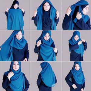 Tutorial Hijab Segitiga Syari