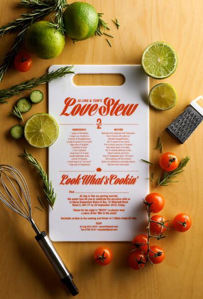 Desain undangan pernikahan yang unik